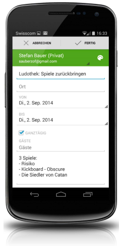 Kalender Android 2